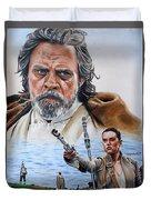 Luke And Rey Duvet Cover