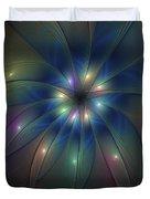 Luminous Fractal Art Duvet Cover