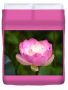 Luminous Lotus Blossom Duvet Cover