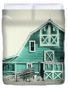 Luna Barn Teal Duvet Cover