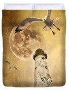 Lunar Flight Duvet Cover by Meirion Matthias