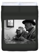 Lunch Counter Boys - Black And White Duvet Cover