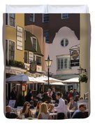 Lunch In Brighton Duvet Cover by Trevor Wintle