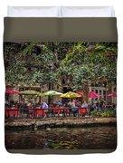 Lunch On The Riverwalk Duvet Cover