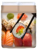 Lunch With  Sushi  Duvet Cover