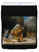 Luncheon Still Life, At And By John F. Francis Duvet Cover