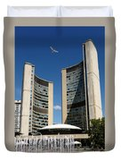 Lunchtime At Nathan Philips Square Toronto City Hall Duvet Cover