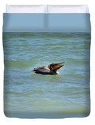 Lunchtime Pelican  Duvet Cover