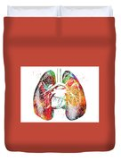 Lungs And Heart Duvet Cover