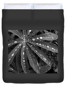 Lupin Leaves With Rain Drops  Duvet Cover