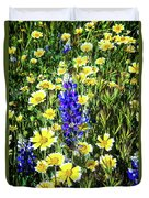 Lupine Amidst Tidy Tips Duvet Cover
