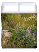 Lupine Among The Weeds  Duvet Cover