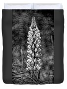 Lupine In Black And White Duvet Cover