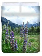 Lupine In The Alpine Duvet Cover