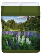 Lupine In The Valley Duvet Cover