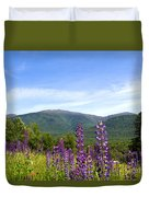 Lupines And The Presidentials Duvet Cover