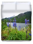 Lupines And Water Duvet Cover