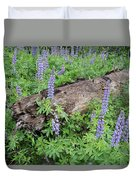 Lupines And Windfall Duvet Cover