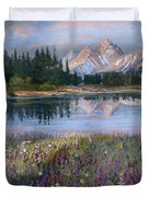 Lupines At Pilgrim Creek Duvet Cover
