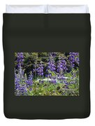 Lupines At The River Duvet Cover