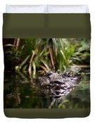 Lurking Crocodile Duvet Cover