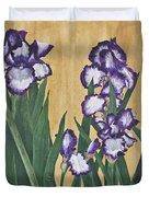 Luscious Iris Duvet Cover