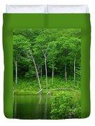Lush Green Pond Duvet Cover