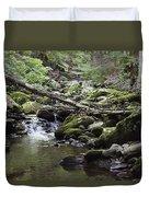Lush Stream And Canopy Foliage Duvet Cover