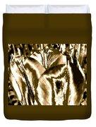 Lustrous Golden Tulip Duvet Cover