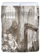 Luther Preaching In The Old Wooden Church At Wittemberg Duvet Cover