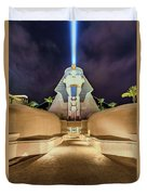 Luxor Casino Egyptian Sphinx Las Vegas Night Duvet Cover