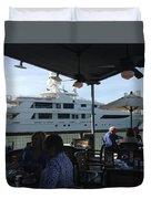 Luxurious Boat In Galveston  Duvet Cover