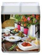 Luxurious Breakfast Buffet  Duvet Cover