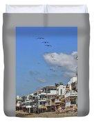 Luxury Beach Houses Malibu Duvet Cover