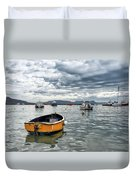 Lyme Regis Harbour - March Duvet Cover
