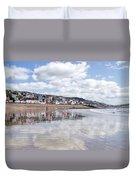 Lyme Regis Seafront Duvet Cover