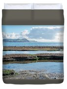 Lyme Regis Seascape 2 - October Duvet Cover