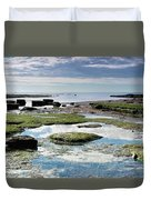 Lyme Regis Seascape 4 - October Duvet Cover