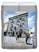 Lynches Castle Galway City Duvet Cover