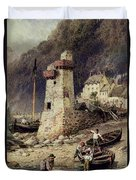 Lynmouth In Devonshire Duvet Cover