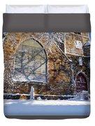 Lynn Central Congregational Church Lynn Ma Winter Duvet Cover