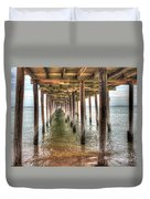 Lynnhaven Fishing Pier, Pillars To The Sea Duvet Cover