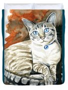 Lynx Point Siamese Cat Painting Duvet Cover