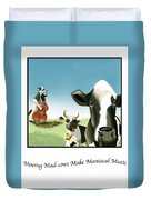 Mooing Mad Cows Duvet Cover