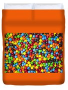 M And M Candy Real Chocolate Minis Duvet Cover