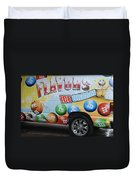 M And M Flavors For The Kids Duvet Cover