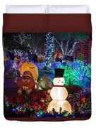 M And Ms For Christmas Duvet Cover