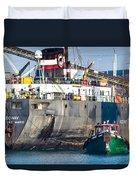 M/v Algoway And Tug Massachusetts Duvet Cover