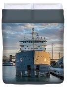 M/v Algoway At The Salt Dock Duvet Cover