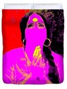 Ma Jaya Sati Bhagavati 16 Duvet Cover by Eikoni Images